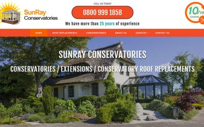 New Website Build – SunRay Conservatories