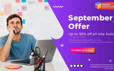 50% OFF all new website builds in Sept 2020