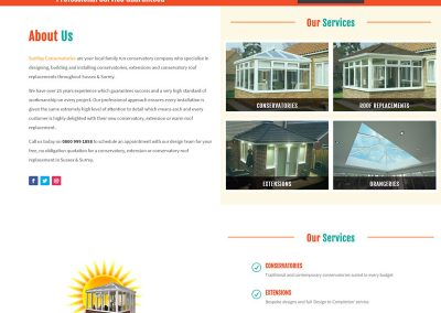 Web Design Paphos - SunRay Conservatories Website Build - About