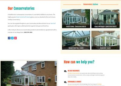 Web Design Paphos - SunRay Conservatories Website Build - Conservatories