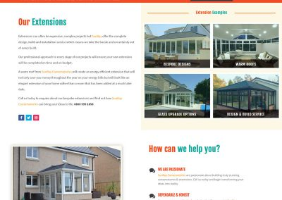 Web Design Paphos - SunRay Conservatories Website Build - Extensions