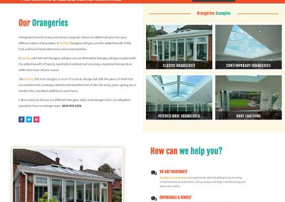 Web Design Paphos - SunRay Conservatories Website Build - Orangeries