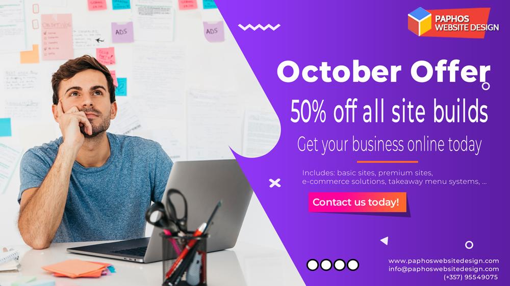 Cyprus Web Design - 50% off in Oct 2020