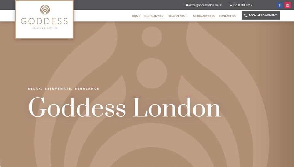 New Website – Goddess Salon London