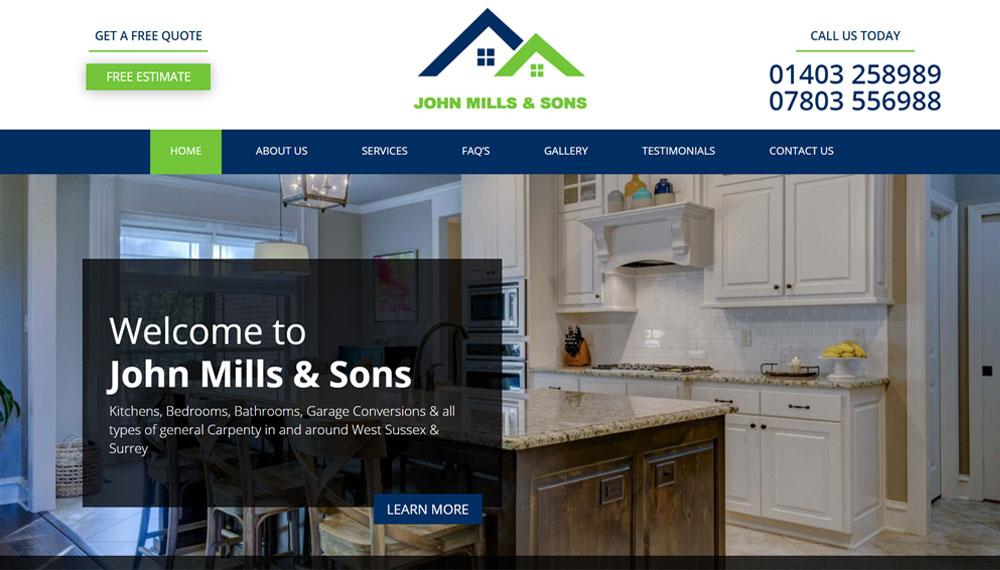 New Website – John Mills & Sons