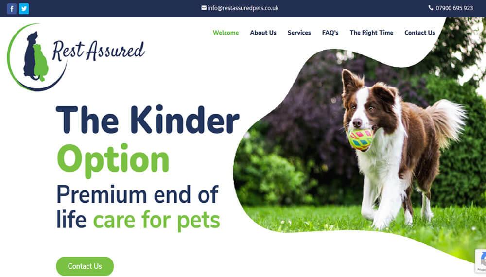 New Website – Rest Assured Pets
