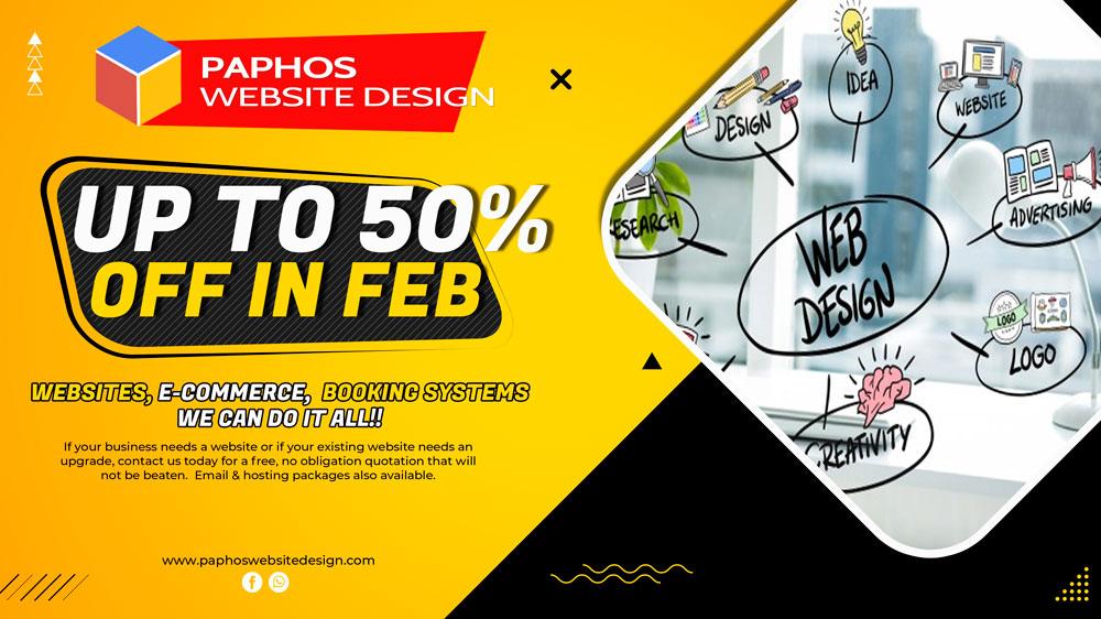 Paphos Web Design – 50% OFF in Feb 2021