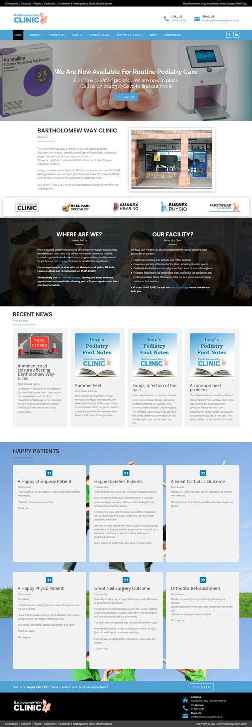 Website Designer in Paphos - Clinic Website