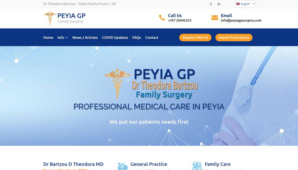 Web Design in Cyprus – Peyia GP Surgery