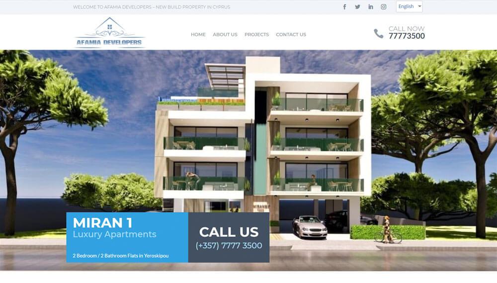 Web Design Cyprus – New Homes Cyprus