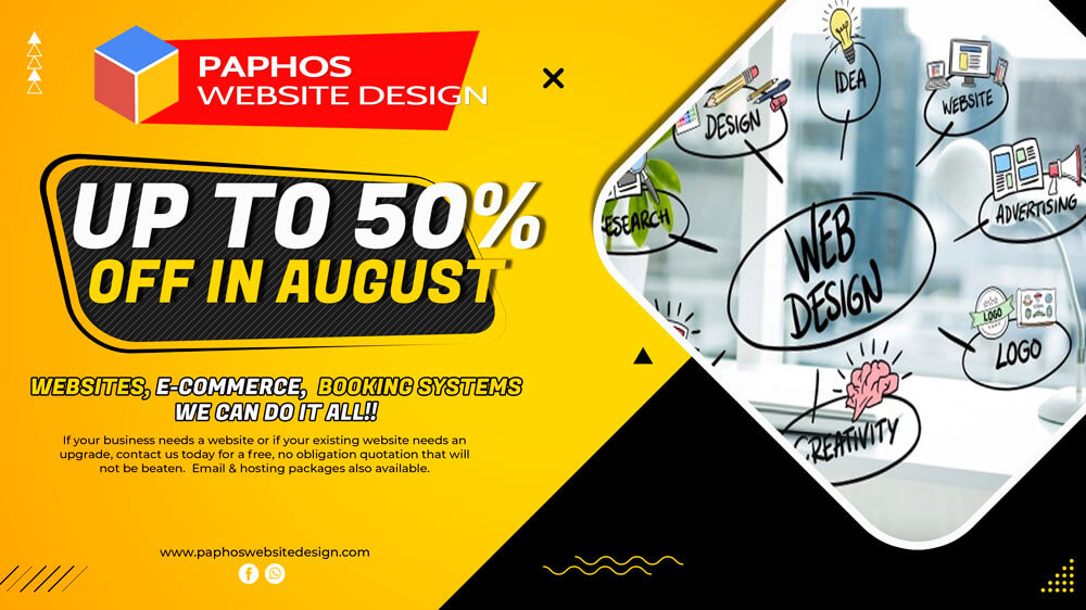 Website Design Cyprus – 50% OFF in Aug 2021